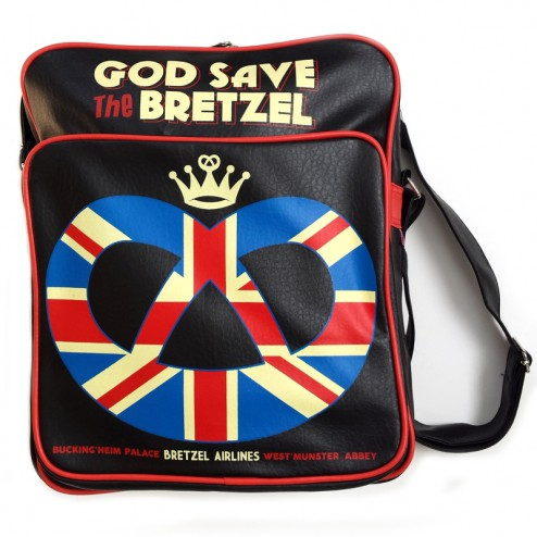 Sac traveller - God save the Bretzel - noir