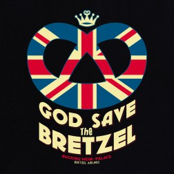 T-shirt enfant God Save the Bretzel - noir