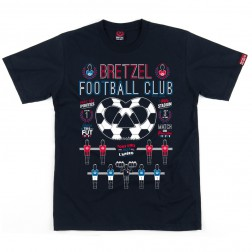 T-shirt homme Bretzel Football Club bleu marine