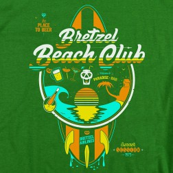 T-shirt homme Beach Club vert kelly
