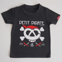 T-shirt enfant Petit Pirate gris anthracite