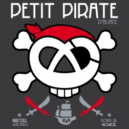 T-shirt enfant Petit Pirate - gris anthracite