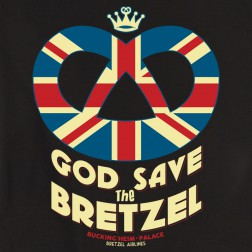 T-shirt femme God Save the Bretzel noir