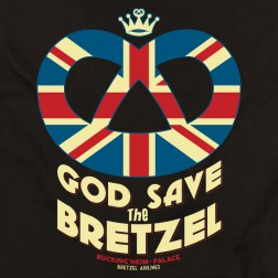 T-shirt homme God Save the Bretzel - noir