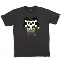 T-shirt homme Pirate gris anthracite
