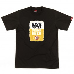 T-shirt homme Save Water - noir