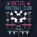 T-shirt homme Bretzel Football Club - bleu marine