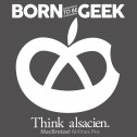 T-shirt enfant Born to be Geek - gris anthracite