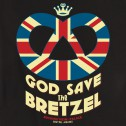 T-shirt femme God Save the Bretzel - noir