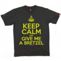 T-shirt homme Keep Calm Bretzel - gris anthracite