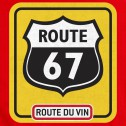 T-shirt homme Route 67 - rouge
